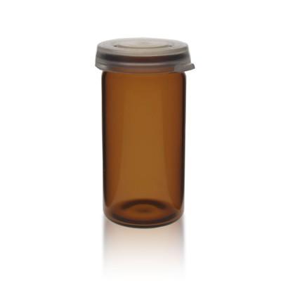 Tablettenglas 10ml braun + Schnappdeckel