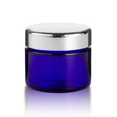Blauglas Tiegel 50 ml - silber