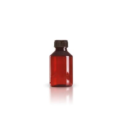 PET Medizinflasche 100ml + braunem Schraubverschluss