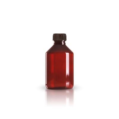 PET Medizinflasche 200ml + braunem Schraubverschluss