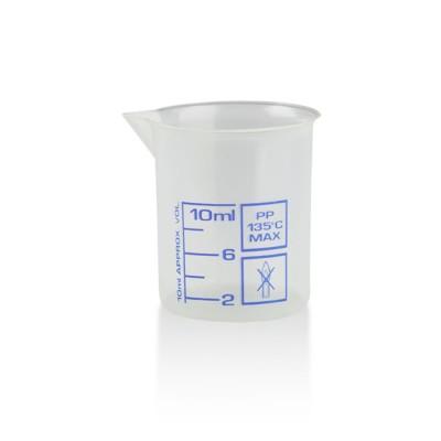 Messbecher / Griffinbecher Kunststoff 10ml
