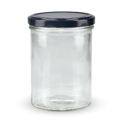 Marmeladenglas 435ml mit schwarzem Deckel