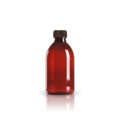 PET Medizinflasche 250ml + braunem Schraubverschluss