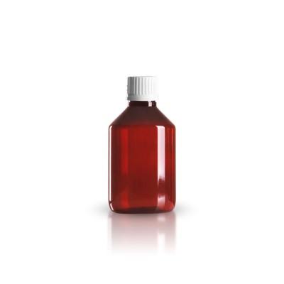 PET Medizinflasche 200ml + Schraubverschluss weiß