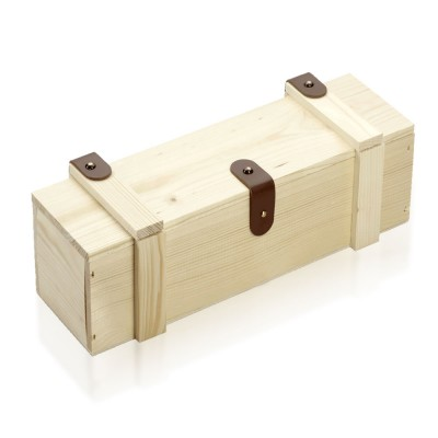 Holzbox Fichte massiv mit Deckel 34x9x9cm