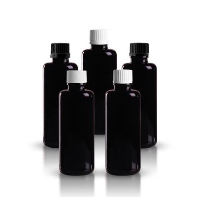 Violette Tropfflasche 50ml mit Schraubverschluss