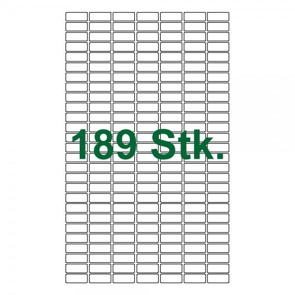 189 Etiketten, weiß