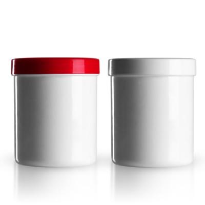 Salbenkruke mit rotem/weißem Deckel 300g