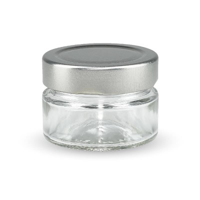 Marmeladenglas 80ml mit silbernem Deckel