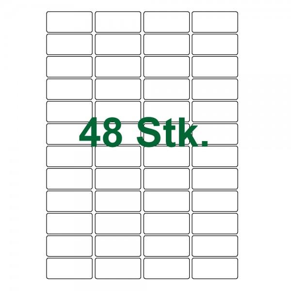 ca Etiketten Weiß Selbstklebend 60 Klebeetiketten 73 x 33 mm