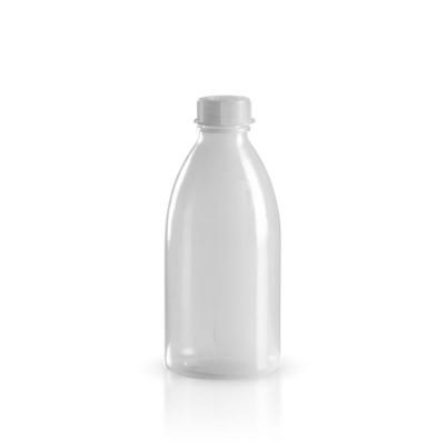 250ml PE Laborflasche Enghals + Verschluss