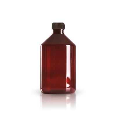 PET Medizinflasche 500ml + braunem Schraubverschluss