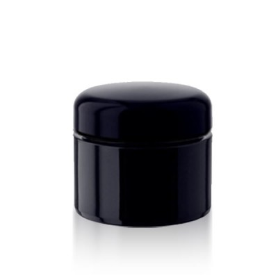 Violettglas Kosmetikdose 30ml