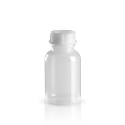 250ml Kunststoff Laborflasche Weithals inkl. Schraugverschluss