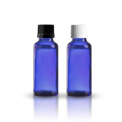 Apothekerflasche blau 30ml + Schraubverschluss
