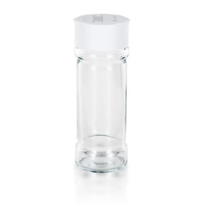 Gewürzglas 100ml + 2-fach Verschluss weiß