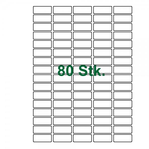 80 Etiketten-weiß 36x17mm