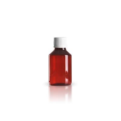 PET Medizinflasche 100ml + Schraubverschluss weiß