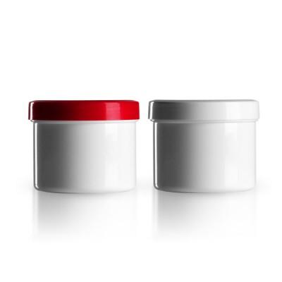Salbenkruke mit rotem/weißem Deckel 150g
