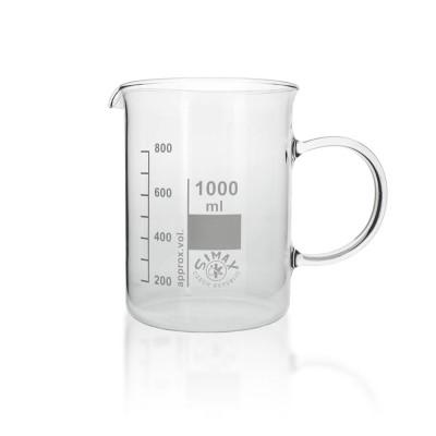 Becherglas 1000ml mit Griff/Henkel